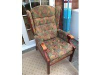 Floral autumn orthopedic arm chair