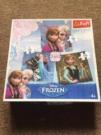 Frozen 3 in one jigsaws