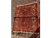 Red Persian prayer rug