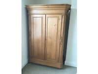 Solid Pine French Canted Double Robe