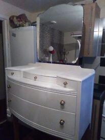 Shabby chic vintage dresser white