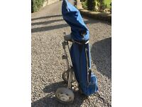 Ladies Half Set of Golf Clubs with Bag & Trolley
