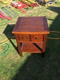 Small wooden bedside table - free for collection