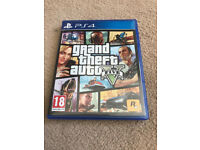 PS4 Grand Theft Auto 5 GTA 5 with Map in mint condition like new