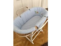 Gordonsbury safari moses basket with stand - excellent condition