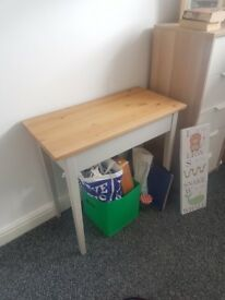Solid wood Ikea Laptop table grey 79x40 cm £30