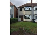 REGIONAL HOMES ARE PLEASED TO OFFER: NEWLY REFURBISHED 3 BEDROOM HOME, RECTORY PARK ROAD, SHELDON!!!