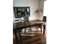 Solid wood table 6 chairs plus free sideboard cost £1750