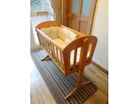 Solid Wood Baby Crib (option to swing) – Great Buy!