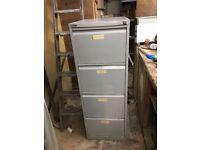 2 Bisley Metal Filing cabinet - 4 drawers