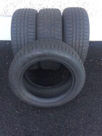 Winter tyres- 4 x 225/55/17, 2 x 205/55/16, 2 x 205/60/16