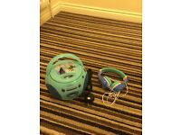 Frozen CD player and headphones