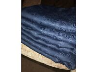 navy floral IKEA curtains 4 pieces extra long