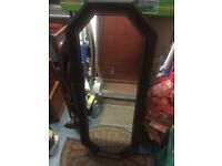 HALLWAY OBLONG MIRROR WITH WALL FIXINGS - VGC - £15 - BANGOR AREA - NO SUNDAY CALLERS