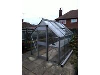 Toughened glass greenhouse