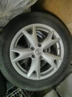 "Selling four 17"" alloy Nissan rims $320"