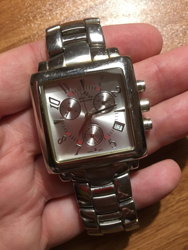 Genuine designer Markus Ruby men's wristwatch