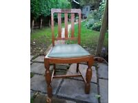 Four oak chairs