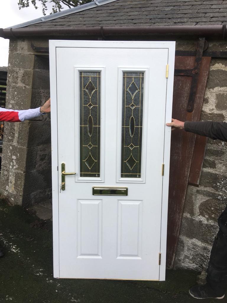 Composite BLACK Front door WHITE inside | in Angus | Gumtree