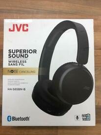 JVC HA-S65BN On-Ear Wireless Headset with Noise Cancelling Function - ''NEW''