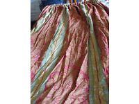 HUGE JOHN WILMAN PENCIL PLEAT AZTEC PRINT CURTAINS 229 X 550 CM