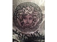 Versace Blanket for Double Bed Silver / Black