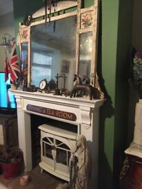 Antique large gust avian style mirror