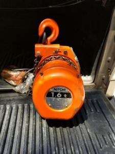 New Nitchi Electric Chain HOIST MHC-5 1.6 t Single Phase 100V