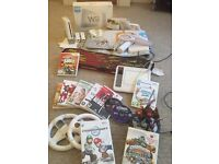 MASSIVE BUNDLE - Wii Console + Skylanders + Mario Kart + Games + Tony Hawk Board + Much More Toys