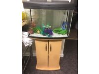 Selkirk! Fish tank with stand, light, heater, filter, 2 pumps and other accessories