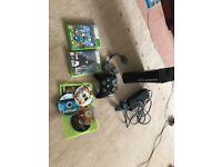 Xbox 360 with 2 controllers, Destiny, Minecraft, Saints row 2, Resident evil 6.