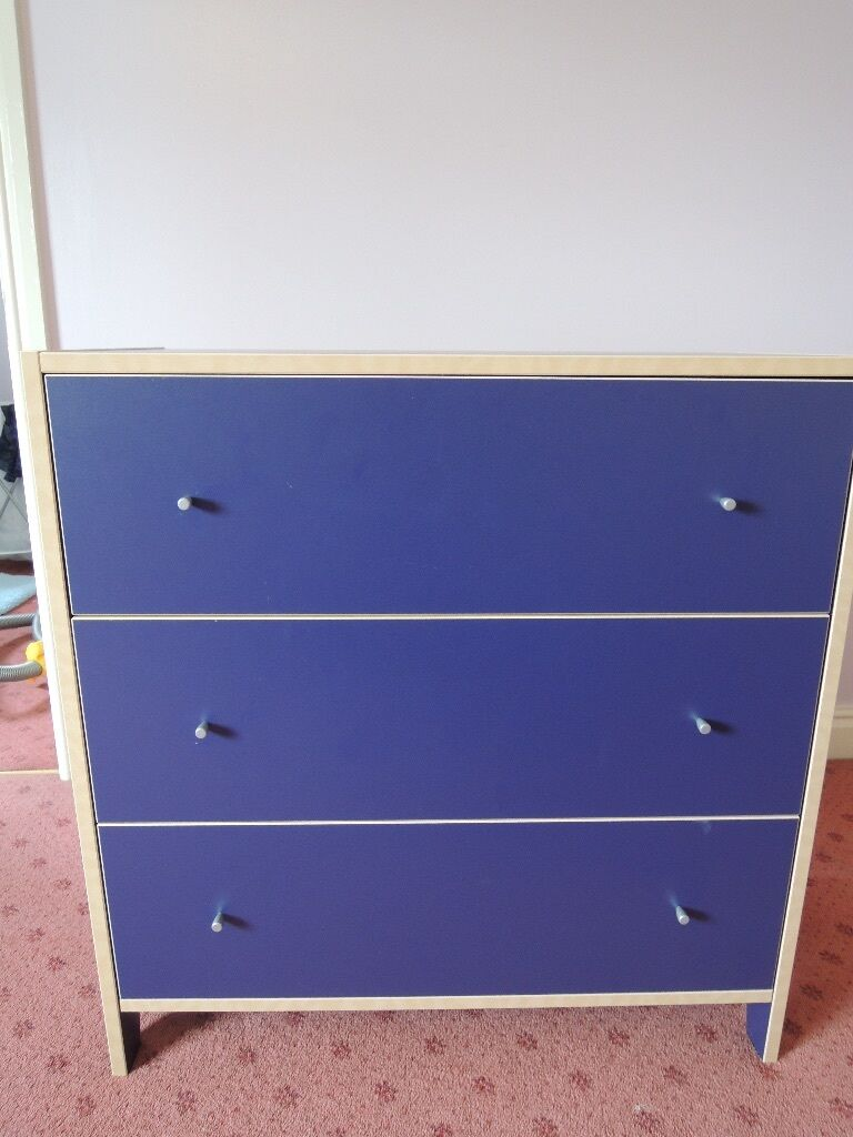 Ikea robin blue chest of drawers