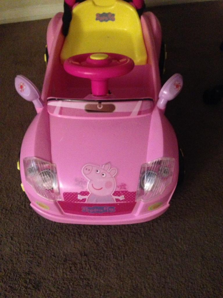 Pepper pig electric car
