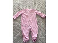 Girl's Fleece Sleepsuit Size 18-24 Months