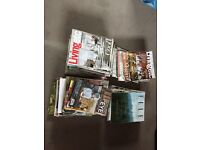 Selection of old Elle Deco and Living etc magazines from 2013 to 2016.