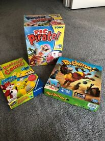 3 Games (Buckaroo, Pop up Pirate and Reading, set, count)