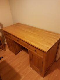 """Solid Oak """"Cairo"""" Computer Desk (Oak Funiture Land) - Good Condition, Collection Only"""