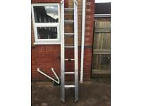 Industrial ladder triple extension