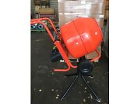 Cement mixer on stand Electric 13 amp plug.