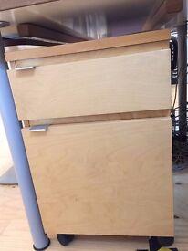 Under desk drawer unit, 2 drawers, wood veneer **£10*