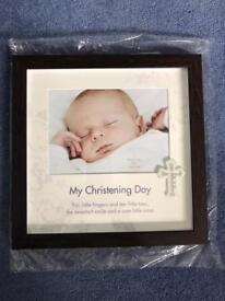 Brand new Christening day picture frame