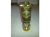 Authentic welsh brass miners lamp by e Thomas and Williams, great example