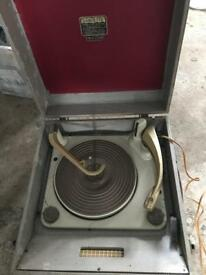 Dansette major record player 1950 1960