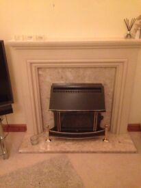Marble Effect Fire Surround. Perfect condition beautiful fire surround.