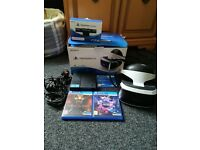 playstation vr headset,camera and games