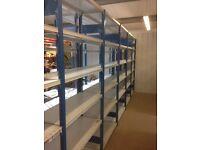 JOBLOT 20 bays of PROVOST industrial shelving 2.1m high ( storage , pallet racking )