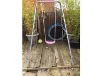 Pink girls garden swing