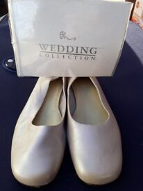 Wedding shoes - gold champagne flat - size 39 5.5 BHS