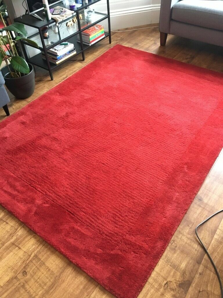 100 Wool Perth Red Hand Made John Lewis Rug 160x230cm In Gourock Inverclyde Gumtree