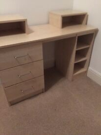 Three dressing tables and three bedside table sets